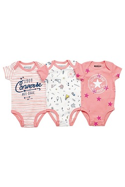 Converse Pack Of 3 Bodysuits Box Set