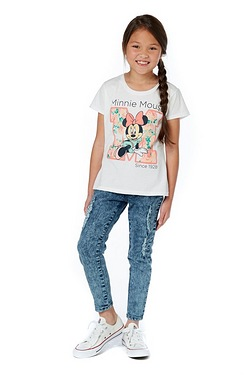 Girls Floral Disney Minnie Mouse T-...