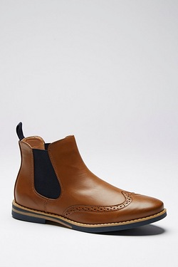 Twisted Gorilla Pu Brogue Chelsea Boot