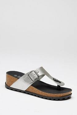 Be You Toe Post Wedge Footbed Sandal