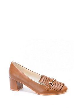 Be You Fringed Block Heel Loafer