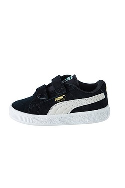 Boy's Puma Suede Velcro PS Black/White