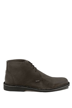 Lambretta Leather Desert Boot - Dark Grey/Black