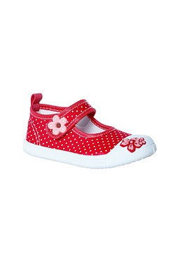 Girls Canvas Mary Jane Pump Red