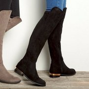 Over The Knee Stretch Back Boot
