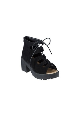 Girls Lace Up Platform Sandal