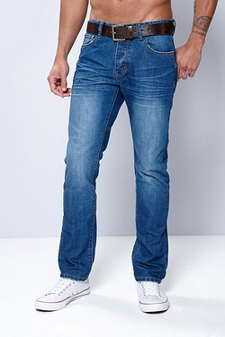 Firetrap Straight Fit Jean - Mid Wash