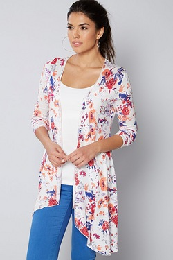 Be You Waterfall Cardigan - Floral ...