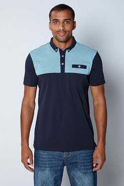 Twisted Gorilla Pattern Polo Top