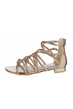 Be You Strappy Metal Trim Gladiator...