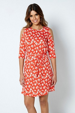 Be You Split Sleeve Dress - Floral