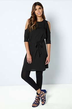 Be You Split Sleeve Dress - Black