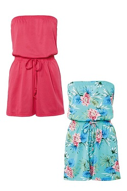 Be You Pack Of 2 Bandeau Playsuits