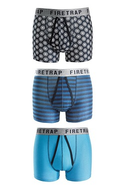 Firetrap Pack Of 3 A-Front Boxers