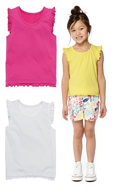 Girls Pack Of 3 Vests