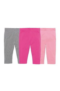 Girls Pack Of 3 Crop Leggings