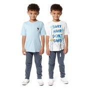 Boy's Pack Of 2 T-shirts - Surf
