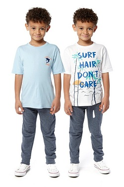 Boys Pack Of 2 T-shirts - Surf
