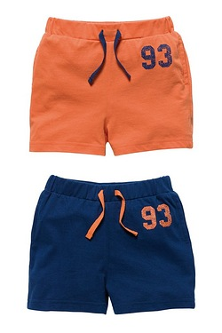 Boys Pack Of 2 Shorts
