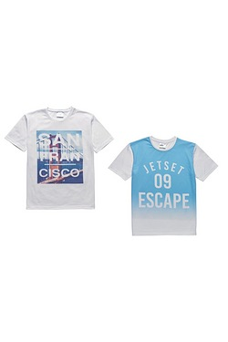 Boys Pack Of 2 T-shirts - San Franc...