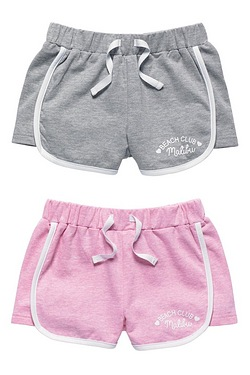 Girls Pack Of 2 Jersey Shorts