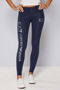 EA7 Shiny Printed Logo Legging