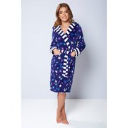 Star Printed Hooded Robe