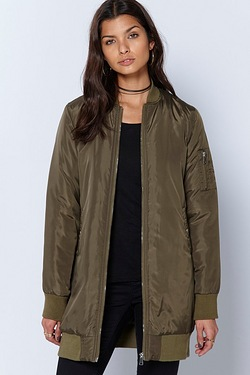 Be You Longline Bomber Jacket