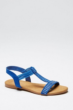 Girls Diamante Sandal