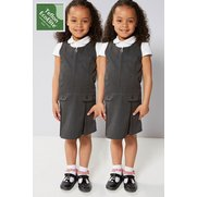 Girl's Pack Of 2 Pinafores