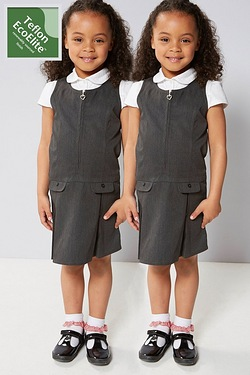 Girls Pack Of 2 Pinafores