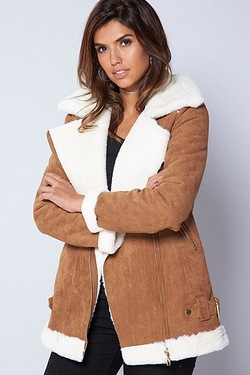 Be You Aviator Shearling Jacket