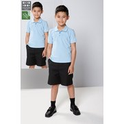 Boy's Pack Of 2 Flat Front Shorts