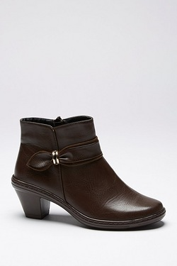 Cushion Walk Bow Side Ankle Boot