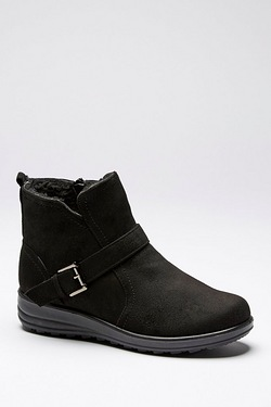 Cushion Walk Borg Lined Ankle Boot