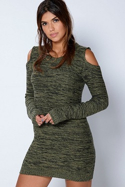 Be You Cold Shoulder Knit Tunic