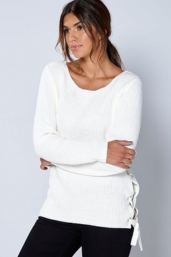 Be You Eyelet Side Jumper