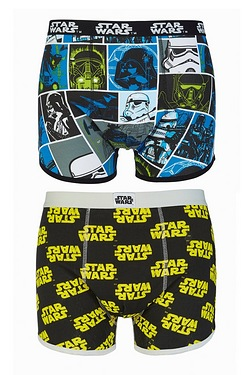 Star Wars Pack Of 2 Boxers