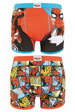 Spiderman Comic Graphic 2 Pack Boxers