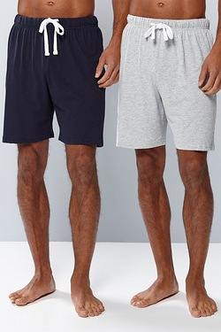 Pack Of 2 Shorts - Navy/Grey