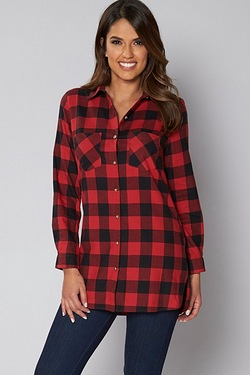 Be You Long Sleeve Check Shirt