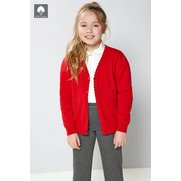 Girl's Knitted Scallop Edge Cardiga...