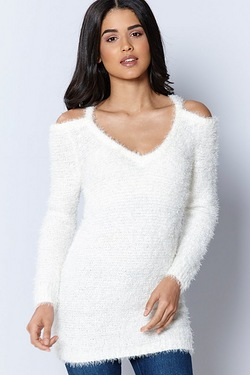 Brave Soul Fluffy Cold Shoulder Tunic