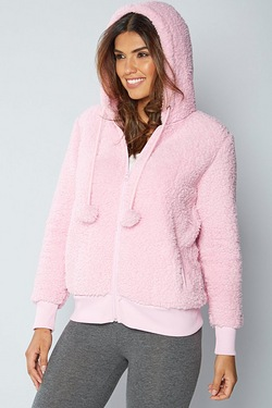Fluffy Hooded Top