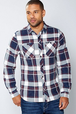 Firetrap Check Long Sleeve Shirt