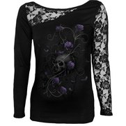 Entwined Skull One Shoulder Top