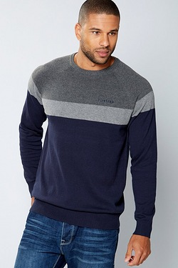 Firetrap Colour Block Knit