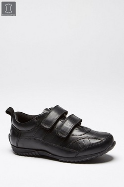 Boys Leather Two Strap Velcro Shoe