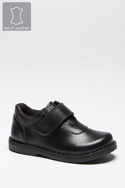 Infant Boys Leather Strap School Shoe