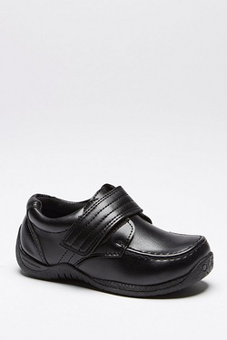Boys Will Velcro Strap School Shoe